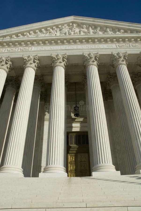 Het Hooggerechtshof van de V.S. in Washington DC stock afbeelding