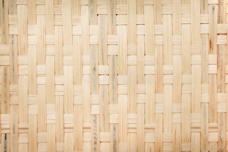 Het hoogste bruine bamboe van de meningstextuur dat voor achtergrond, natuurlijke patronensamenvatting wordt geweven stock foto