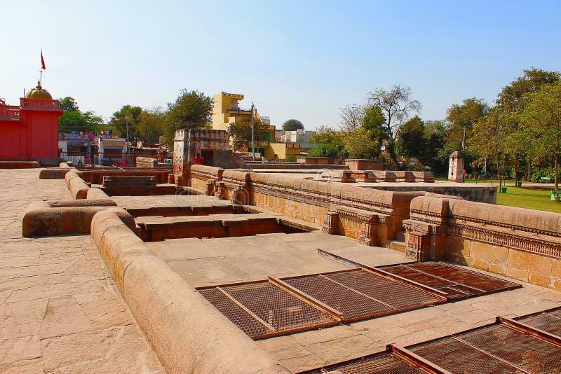 Het hoogste gebied boven Adalaj-Stap goed, Ahmedabad, Gujarat royalty-vrije stock fotografie