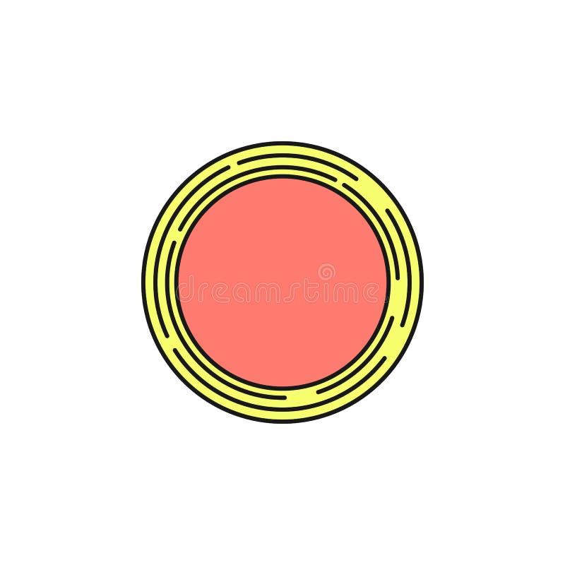 Het hoogste pictogram van Saturn Element van het ruimtepictogram van de overzichtskleur Dun lijnpictogram voor websiteontwerp en  stock illustratie