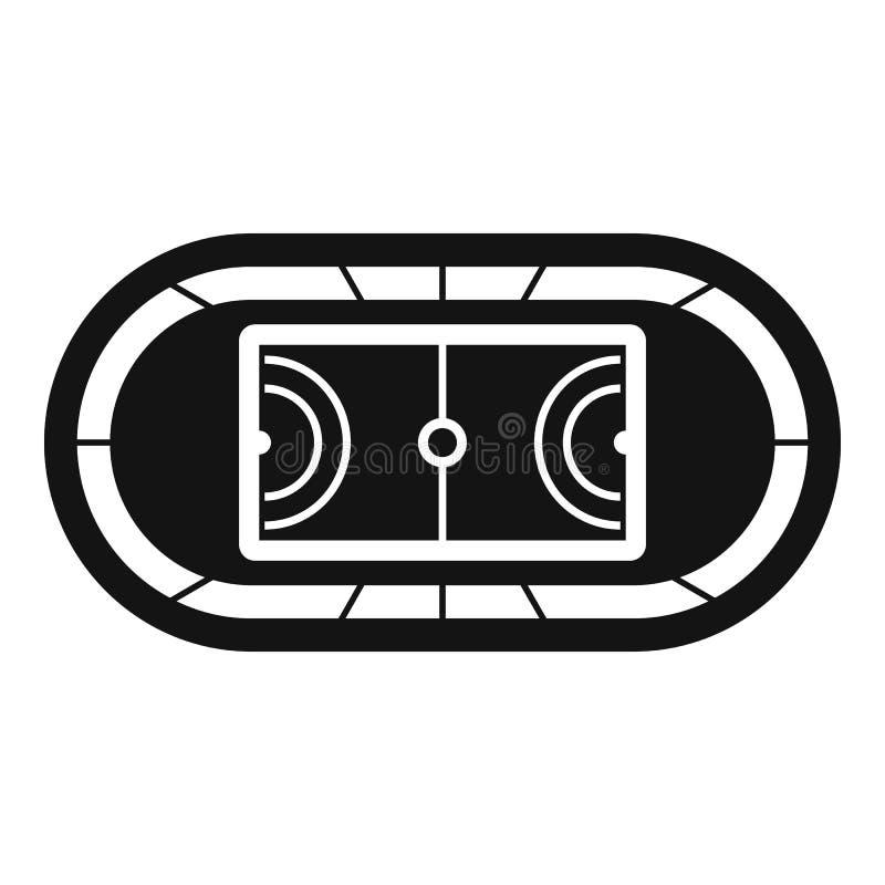 Het hoogste pictogram van het sportgebied, eenvoudige stijl vector illustratie