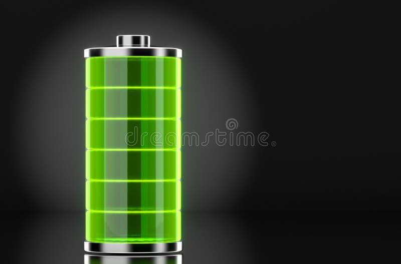 Het hoogtepunt van de batterij stock foto