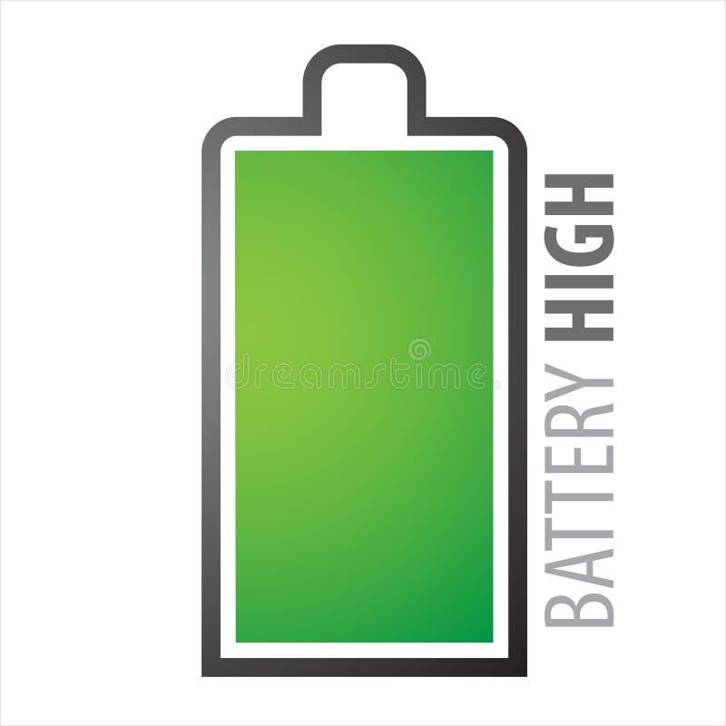 Het hoogtepunt van de batterij stock illustratie