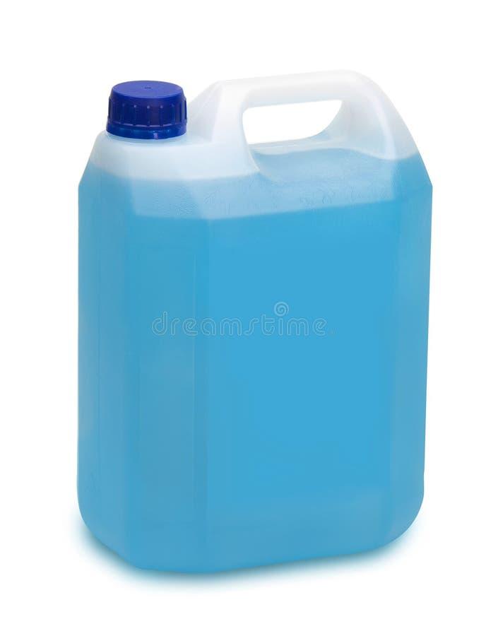Gallon blauw detergens royalty-vrije stock afbeeldingen