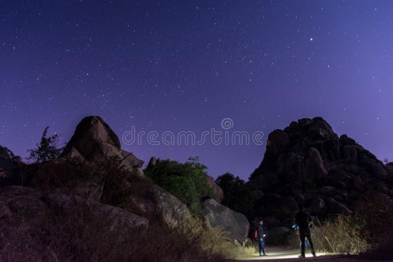 Het hoogtepunt van de hemel van sterren stock afbeelding