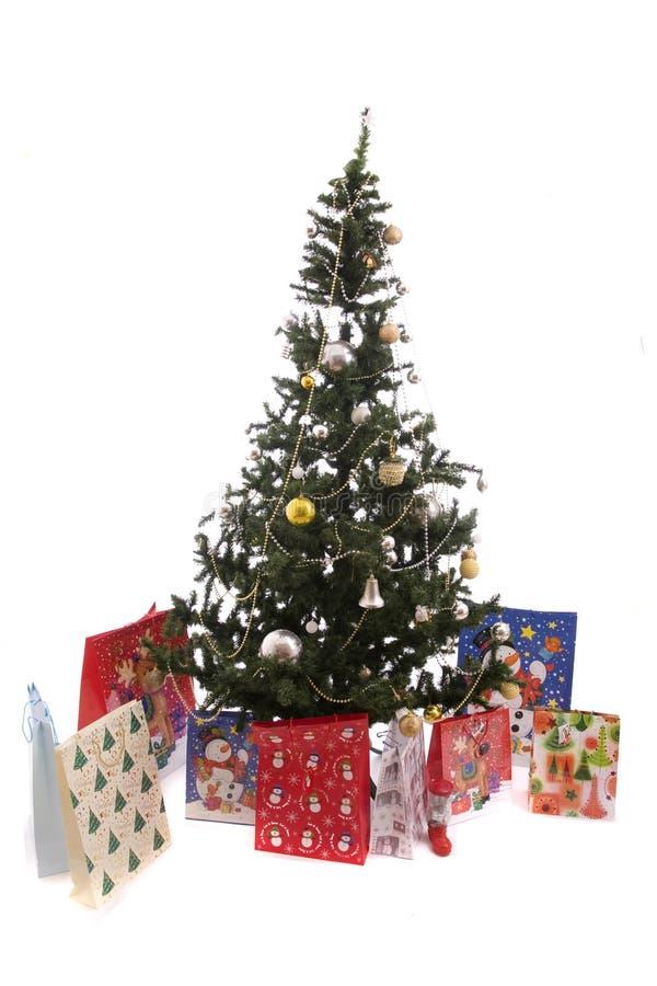 Het Hoogtepunt van de kerstboom van Giften royalty-vrije stock fotografie