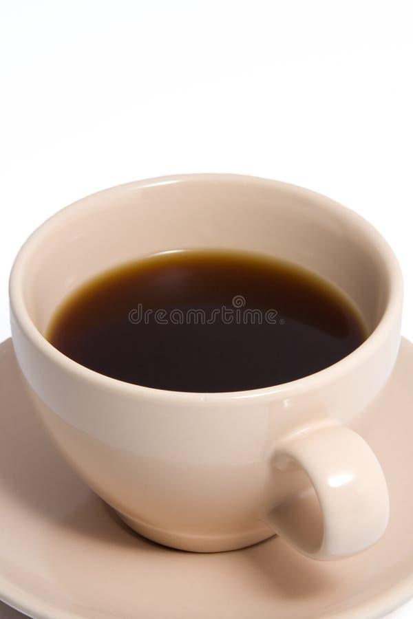 Het Hoogtepunt van de Kop van de Koffie van de perzik van Koffie royalty-vrije stock fotografie