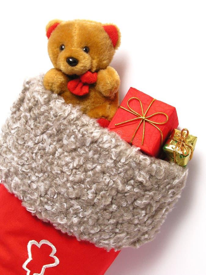 Het hoogtepunt van de Kous van Kerstmis van stelt voor royalty-vrije stock afbeelding