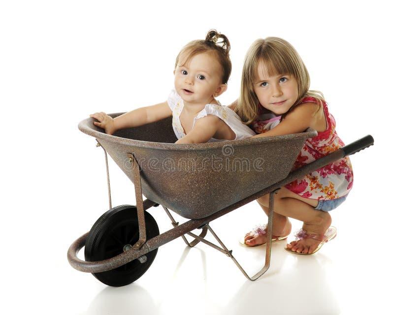 Het Hoogtepunt van de kruiwagen van Baby royalty-vrije stock afbeelding
