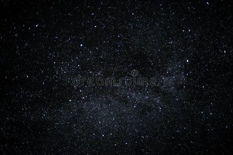 Het hoogtepunt van de nachthemel van sterren, wolkenloze achtergrond royalty-vrije stock foto's
