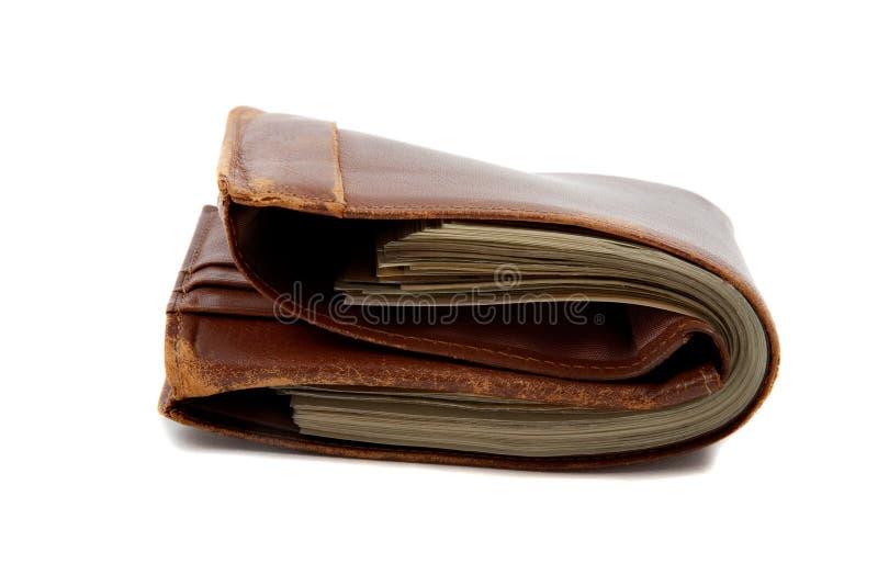 Het hoogtepunt van de portefeuille van geld stock afbeeldingen