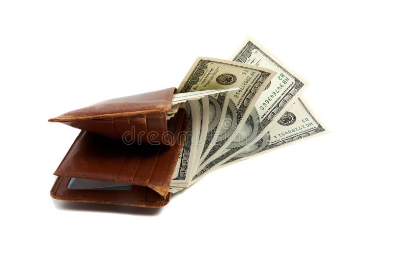 Het hoogtepunt van de portefeuille van geld royalty-vrije stock fotografie