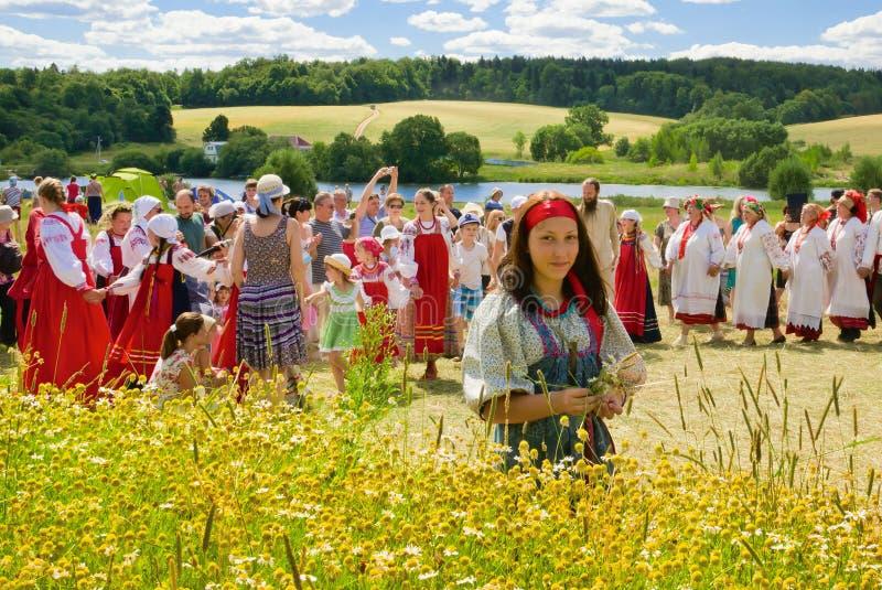 Het hooien van festival in Rusland royalty-vrije stock afbeeldingen
