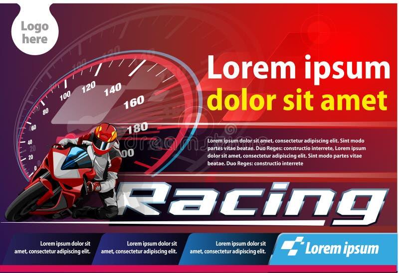 Het horizontale Affiche Rennen vector illustratie