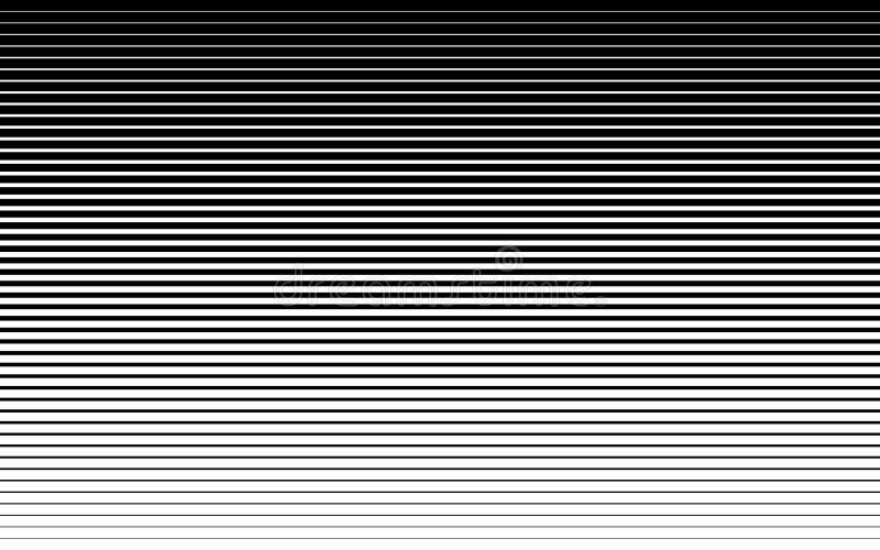 Het horizontale halftone te verdunnen patroon van de snelheidslijn dik Vector illustratie vector illustratie