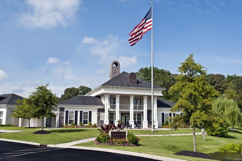 Het Horizontale Schot van het luxeflatgebouw royalty-vrije stock afbeelding