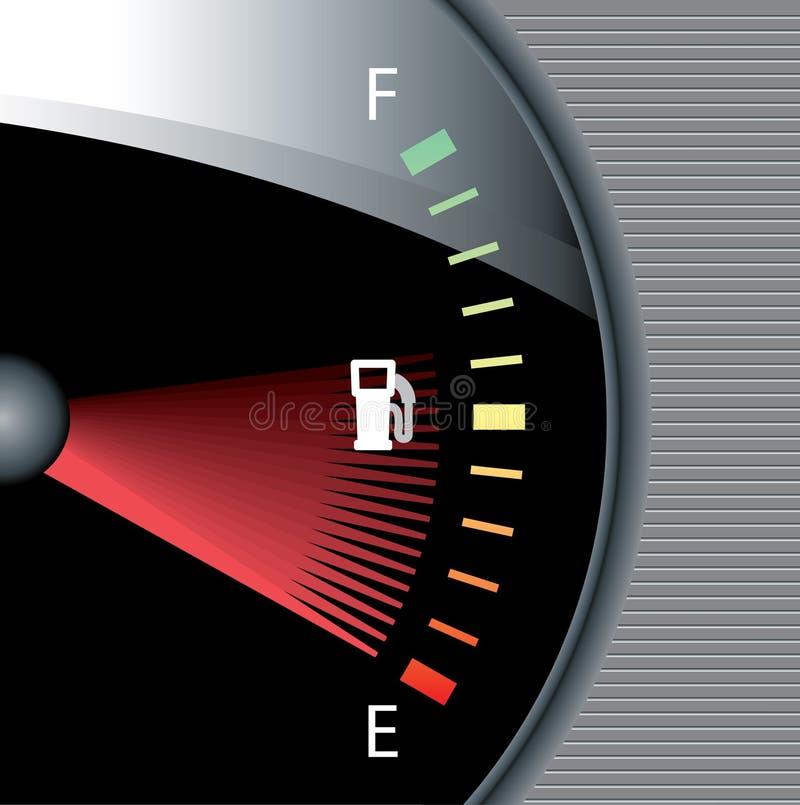 Het horloge van de brandstof stock illustratie