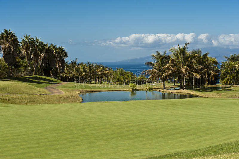 Het Hotel Abama, Tenerife van de Cursus van het golf royalty-vrije stock afbeelding
