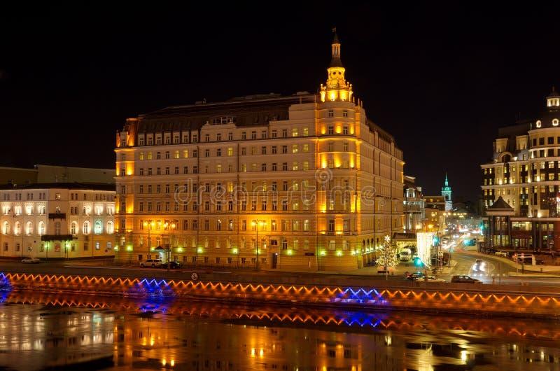 Het Hotel ` Baltschug Kempinski ` in Moskou, Rusland royalty-vrije stock afbeelding