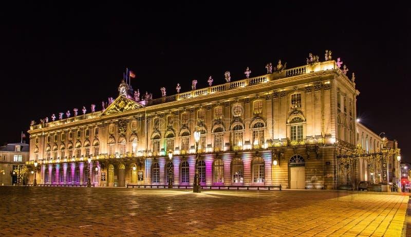 Het Hotel DE Ville (Stadhuis), als Palais DE dat ook Stanisla wordt bekend stock afbeelding