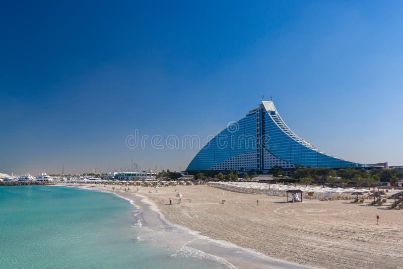 Het Hotel Doubai van het Jumeirahstrand stock afbeeldingen