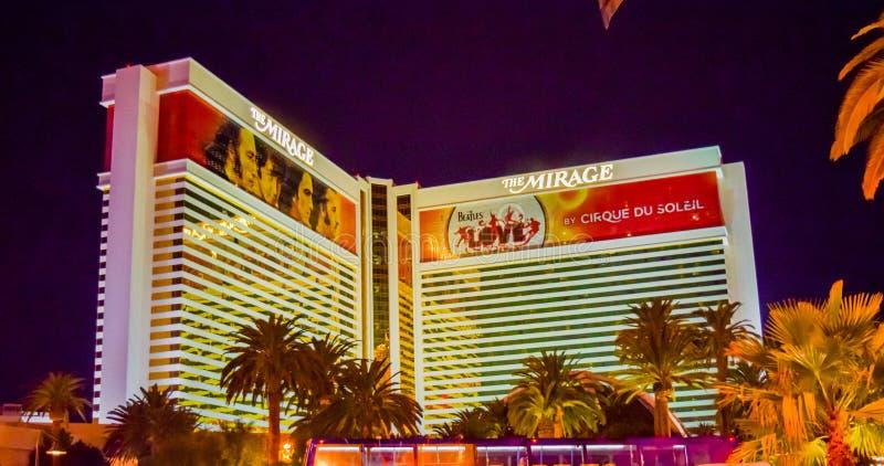 Het Hotel en het Casino van de luchtspiegeling royalty-vrije stock afbeelding
