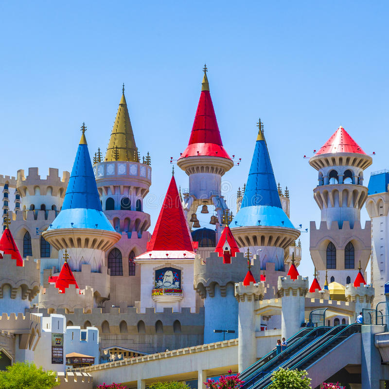 Het Hotel en het Casino van Excalibur in Las Vegas, Nevada royalty-vrije stock fotografie
