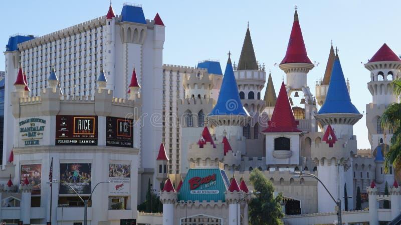 Het Hotel en het Casino van Excalibur in Las Vegas, Nevada stock foto's