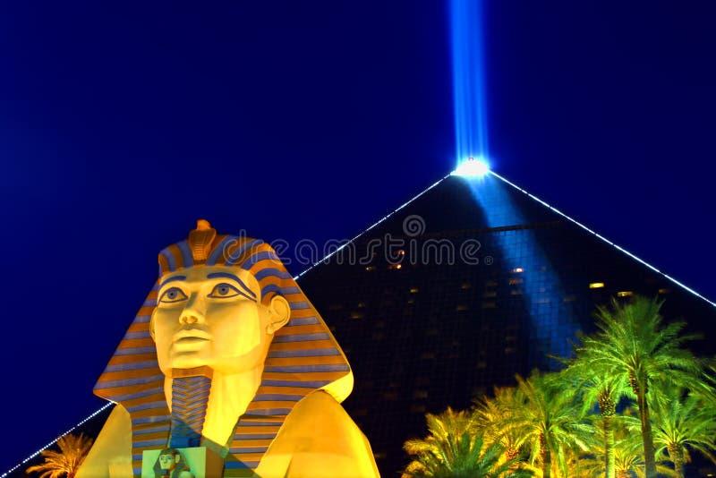 Het Hotel en het Casino van Las Vegas van Luxor stock fotografie