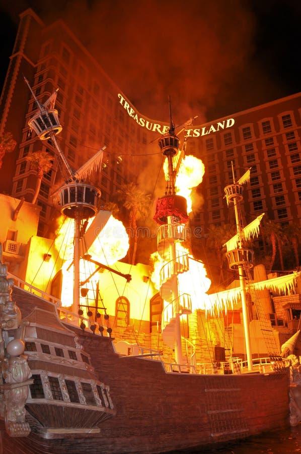 Het Hotel las Vegas van het Eiland van de schat stock fotografie