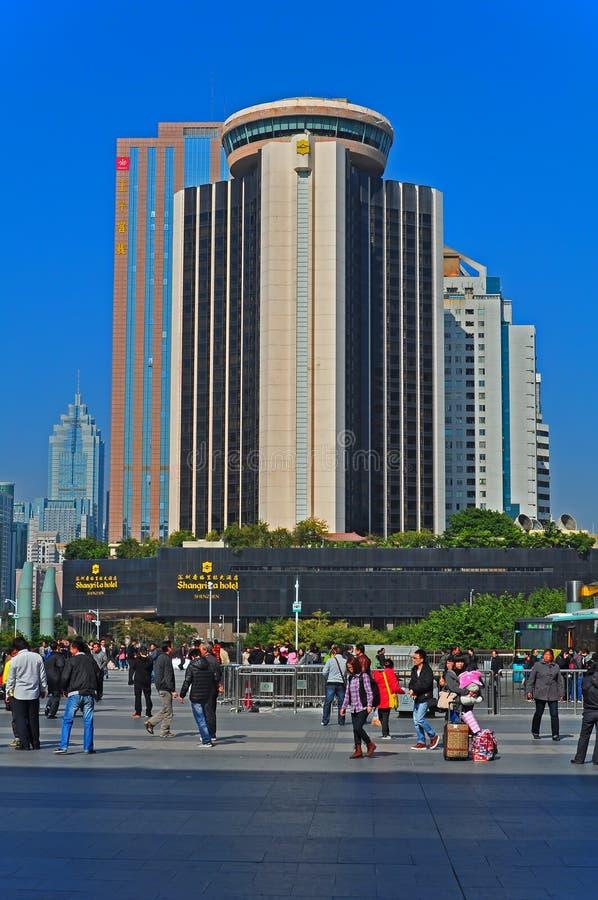 Het hotel shangri-La shenzhen, China stock foto's