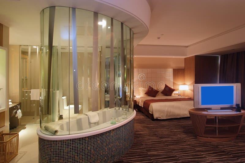 Het hotel van de slaapkamer royalty-vrije stock foto