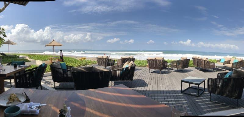Het Hotel van de strandmening royalty-vrije stock foto's