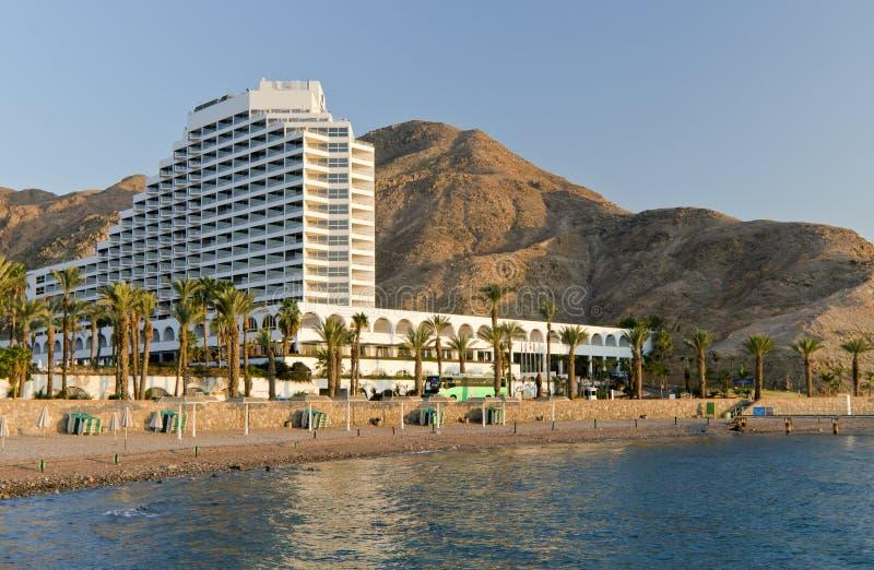 Het hotel van de toevlucht in Eilat, Israël stock afbeeldingen