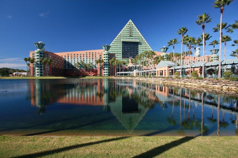 Het hotel van de zwaan en van de Dolfijn royalty-vrije stock afbeelding