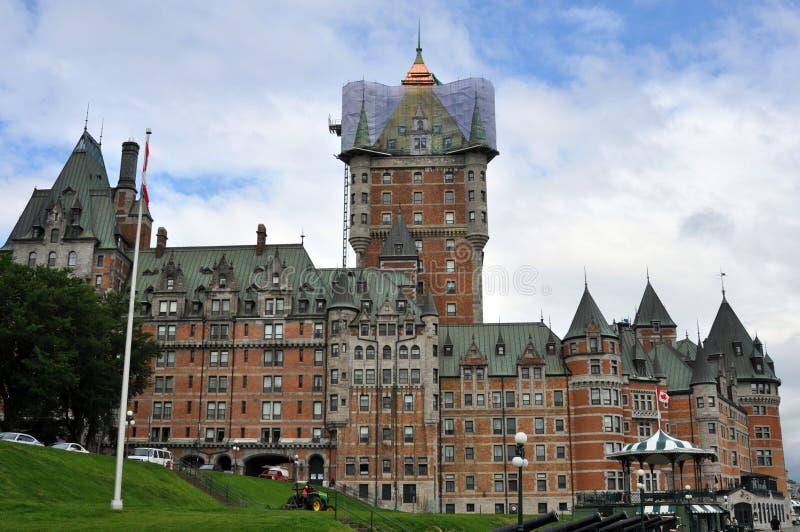 Het Hotel van Fairmont bij de Stad van Quebec, Canada royalty-vrije stock fotografie