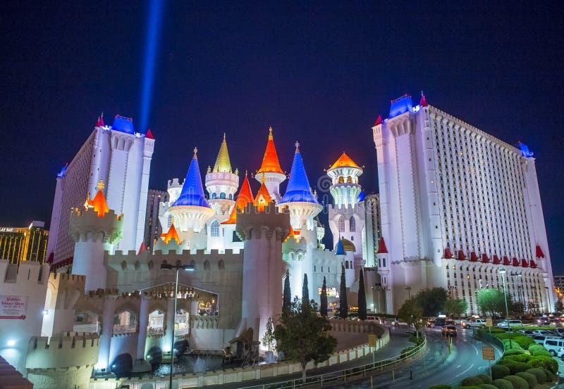 Het Hotel van Las Vegas Excalibur stock afbeeldingen