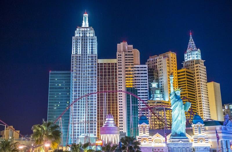 Het hotel van Las Vegas New York stock afbeeldingen
