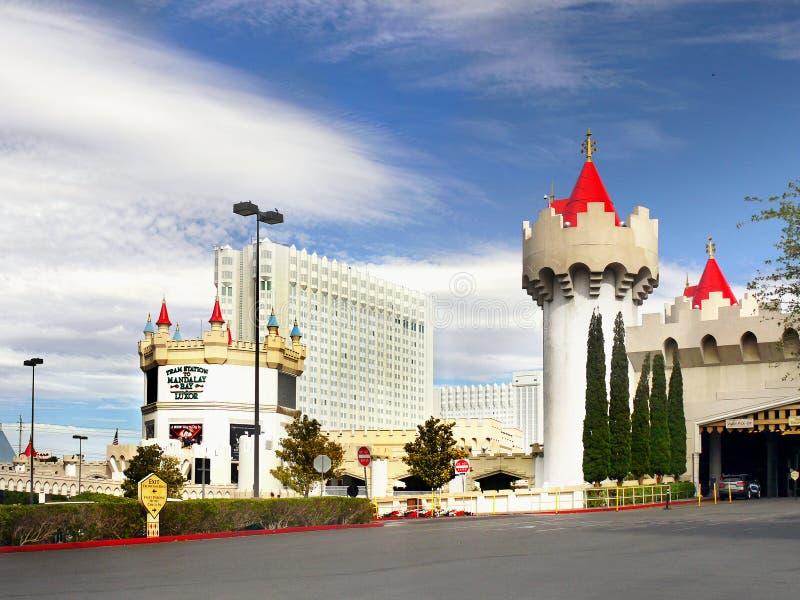 Het Hotel van Las Vegas, van Nevada - Excalibur-en Casino stock foto