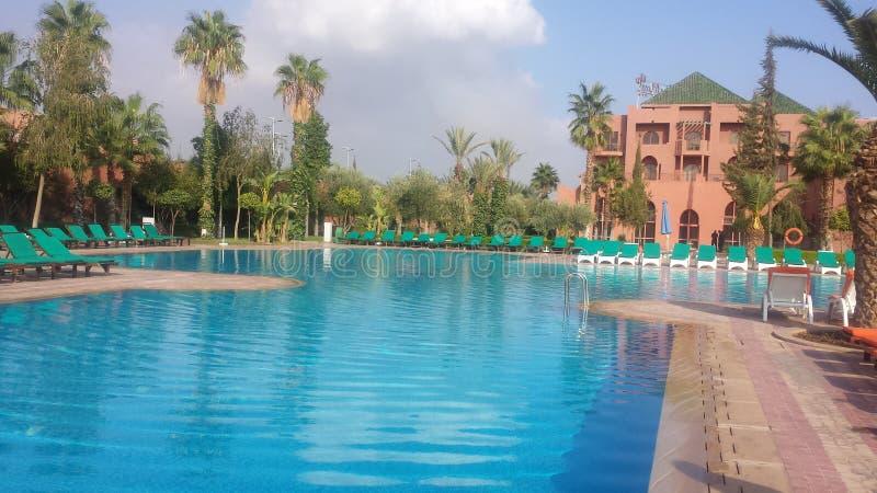 Het hotel van Marokko marakech stock foto