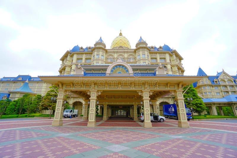 Het Hotel van Tokyo Disneyland voor Tokyo Disneyland in Chiba, Japan wordt gevestigd dat royalty-vrije stock foto's