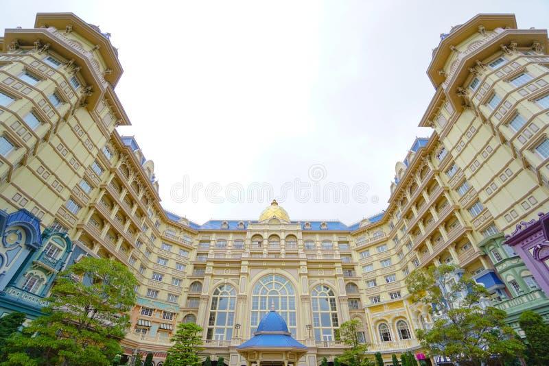 Het Hotel van Tokyo Disneyland voor Tokyo Disneyland in Chiba, Japan wordt gevestigd dat stock fotografie