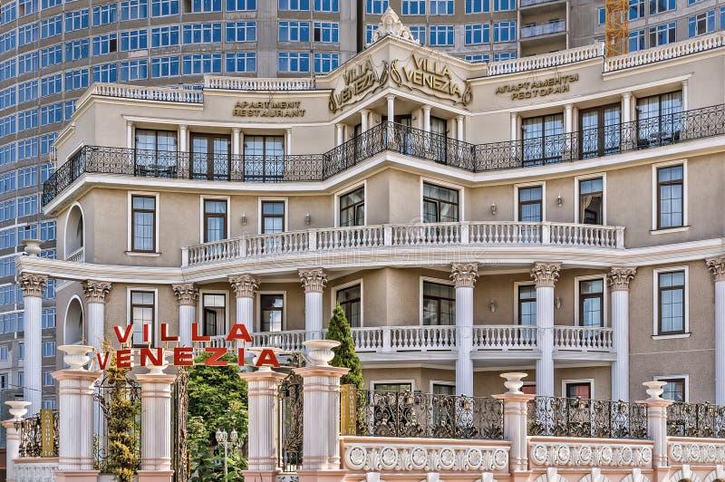 Het hotel van villavenecia comlex in Odessa stock afbeelding
