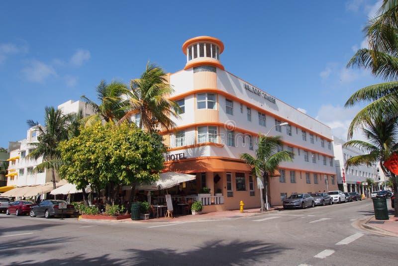 Het Hotel van Waldorftorens in het Strand van Miami, Florida royalty-vrije stock afbeelding