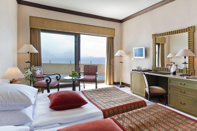 Het hotelruimte van de luxe stock fotografie