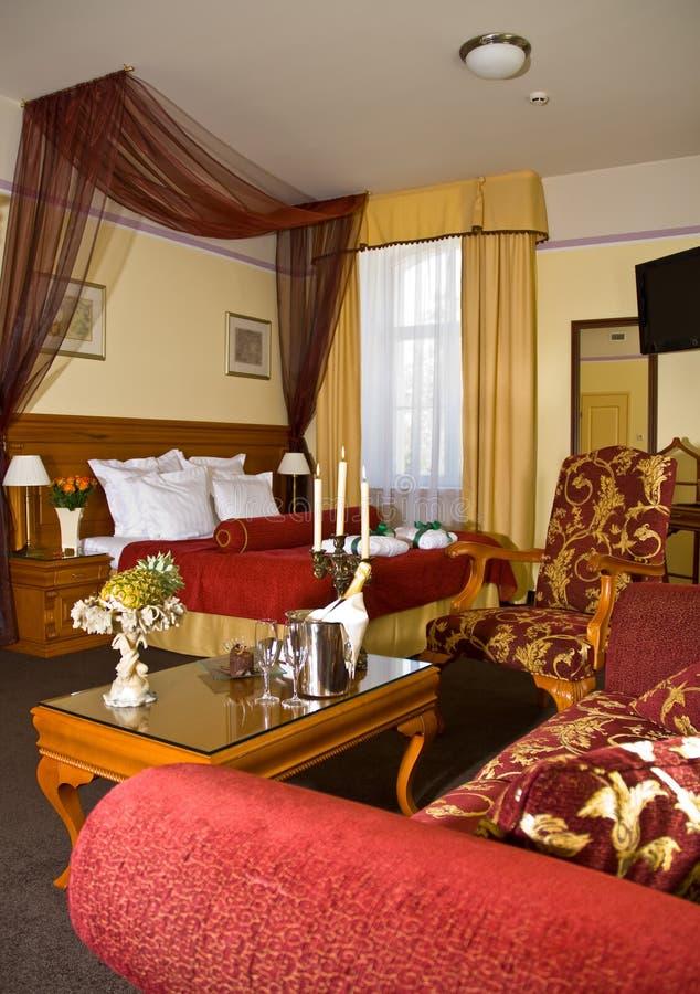 Het hotelruimte van de luxe royalty-vrije stock afbeelding