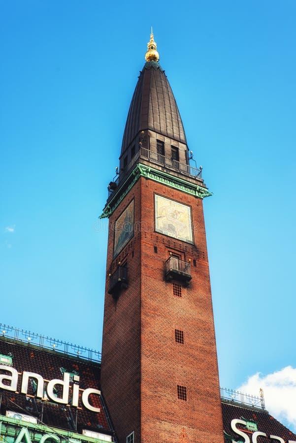 Het Hoteltoren van het Scandicpaleis, Kopenhagen, Denemarken royalty-vrije stock foto's
