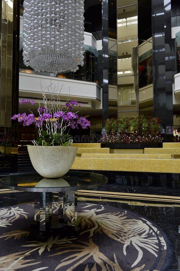 Het hotelzaal van de luxe royalty-vrije stock foto's