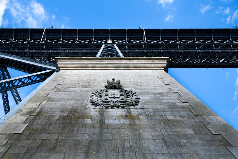 Het houden van de brug stock afbeelding