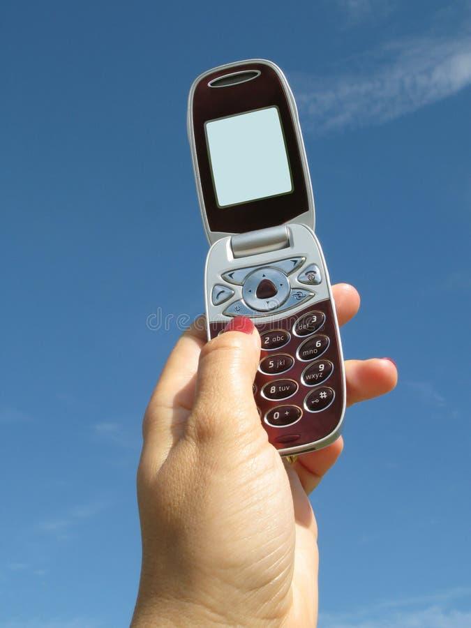 Het houden van een Mobiele Telefoon royalty-vrije stock fotografie